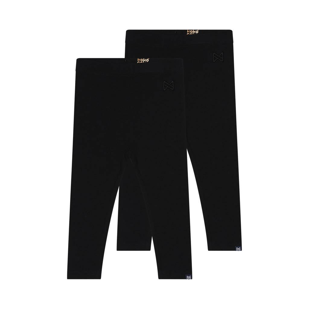 Koko Noko legging Nadia - set van 2 zwart, Zwart