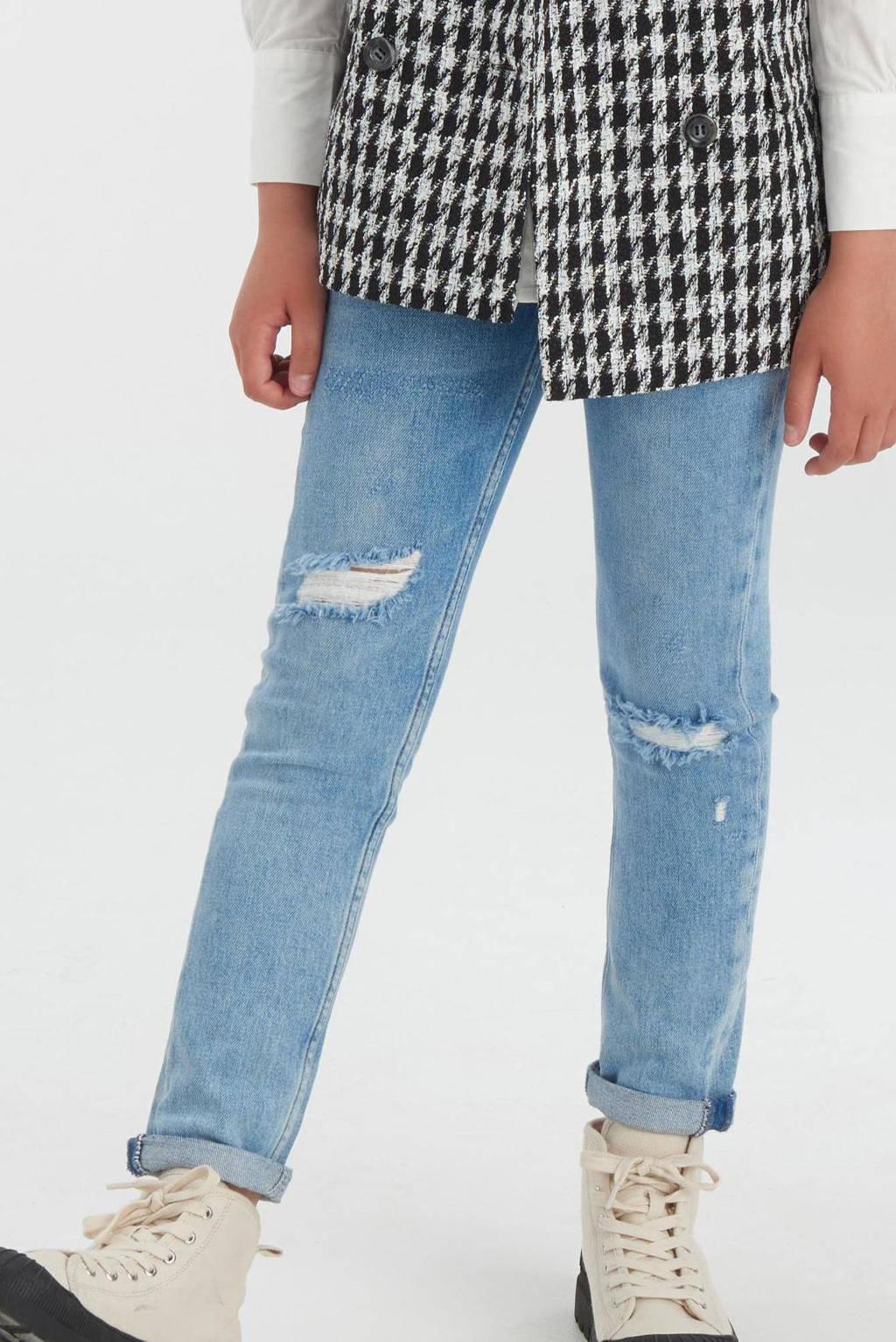 Shoeby Jill & Mitch high waist slim fit jeans Nora light denim, Light denim