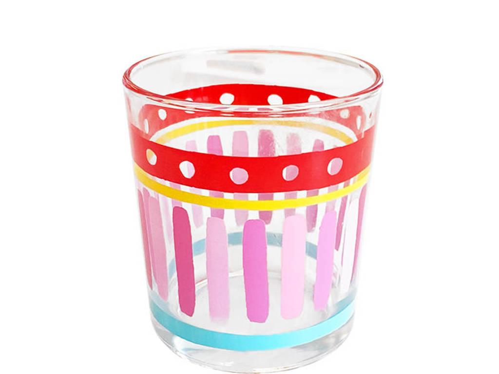 Blond Amsterdam waterglas Even Bijkletsen, Roze