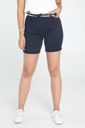slim fit bermuda jeans donkerblauw