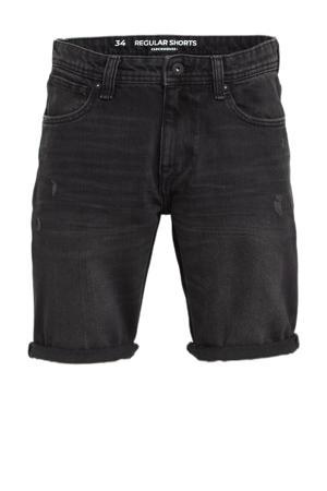 regular fit jeans short zwart