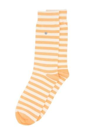 sokken Harbour Stripes oranje/wit