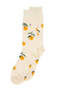 Alfredo Gonzales sokken Tangerine ecru/oranje, Ecru/oranje