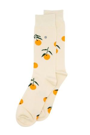 sokken Tangerine ecru/oranje