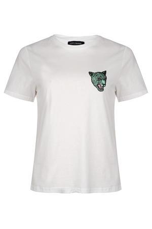 T-shirt Rozie met printopdruk wit