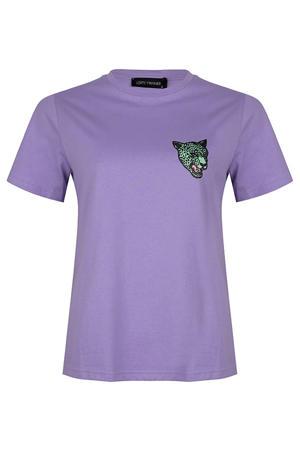 T-shirt Jady met printopdruk paars
