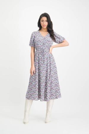 gebloemde jurk Myllena paars