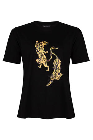 T-shirt Vienna met printopdruk zwart