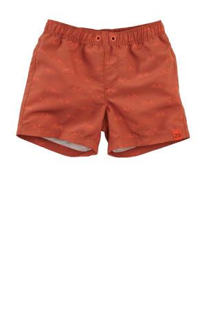 zwemshort Anchor met all over print donker oranje