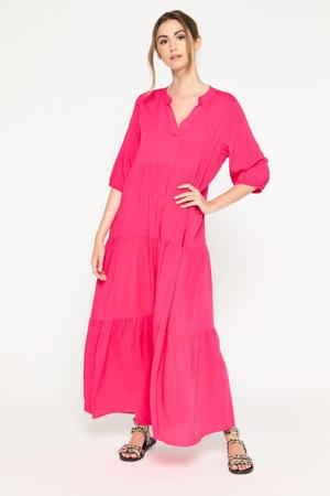 maxi A-lijn jurk R-Fraichouni fuchsia rood
