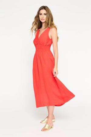 A-lijn jurk R-Linsmock rood
