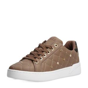 Reea  sneakers met studs bruin/taupe