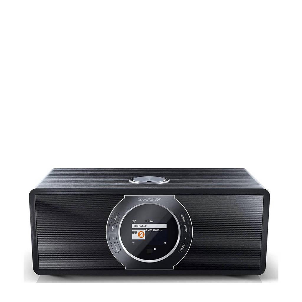 Sharp DR-I470 BK tafelradio, Zwart, Roestvrijstaal
