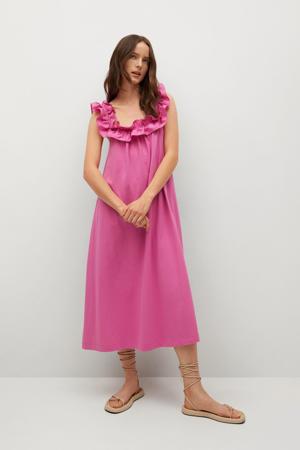 jurk met volant roze