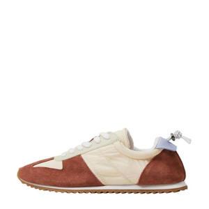 suède sneakers brique/multi