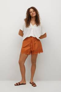 Violeta by Mango T-shirt wit, Wit