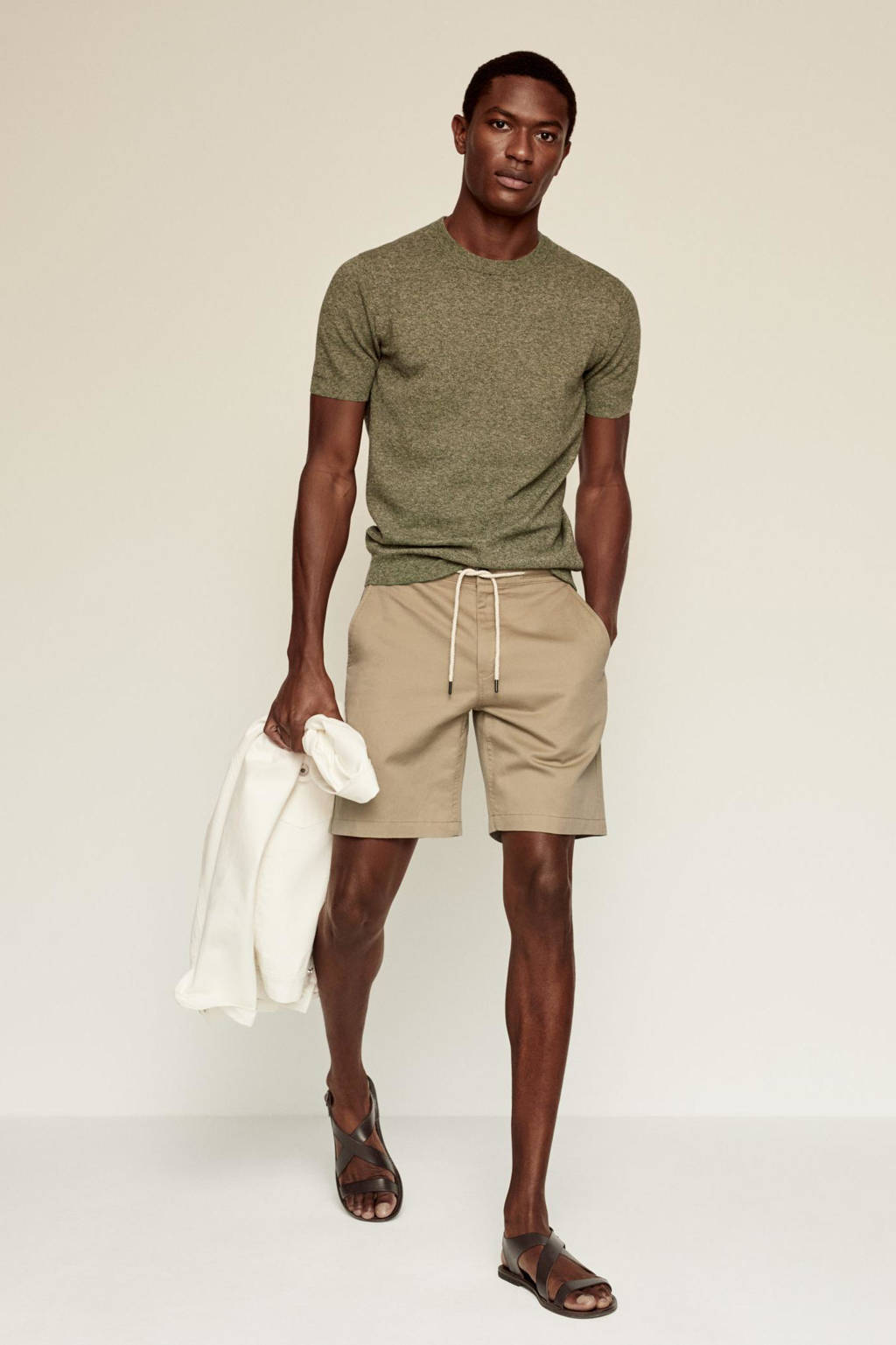 Mango Man regular fit short beige, Beige