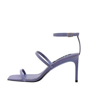 suède sandalettes lila