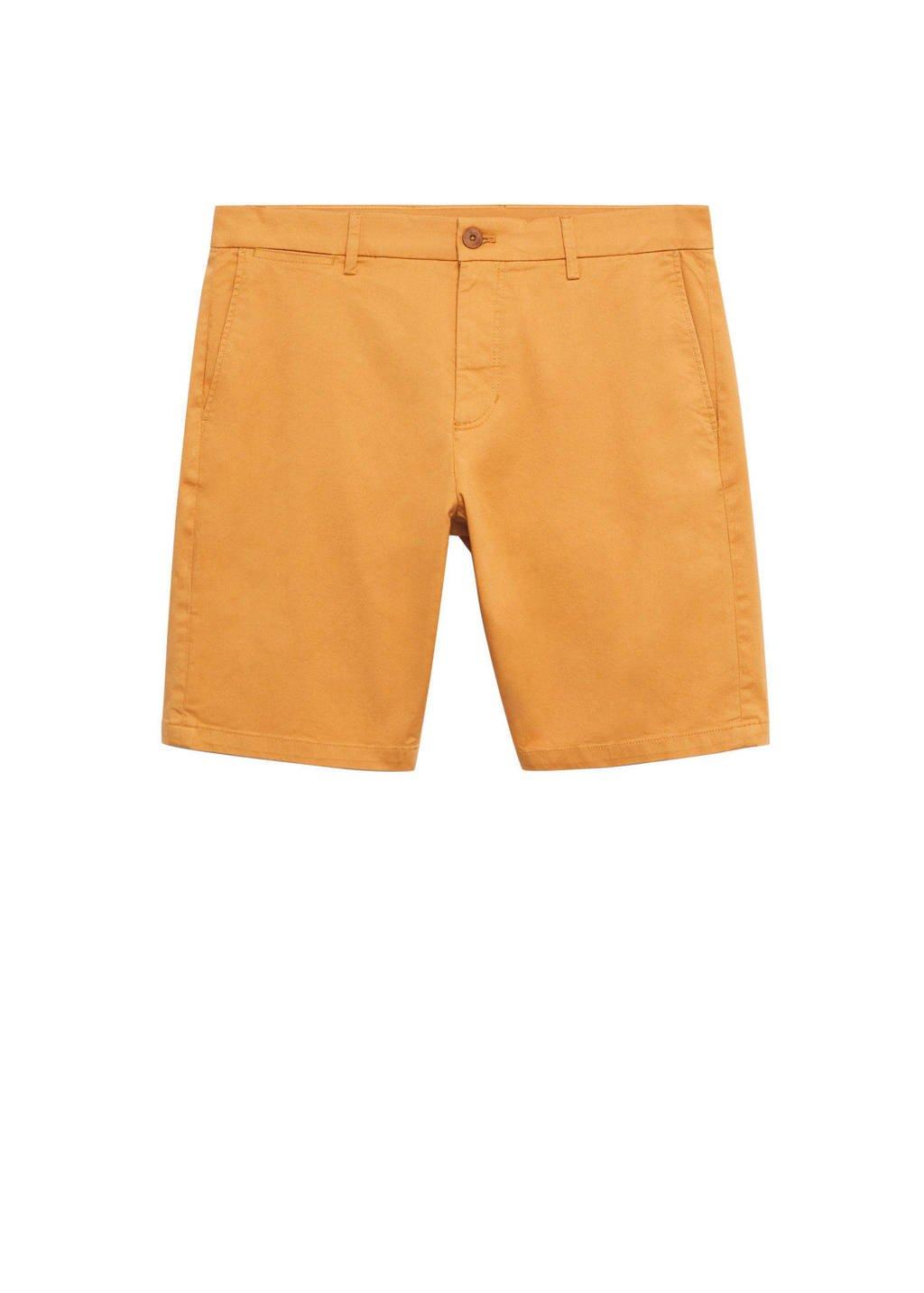 Mango Man regular fit short oranje, Oranje