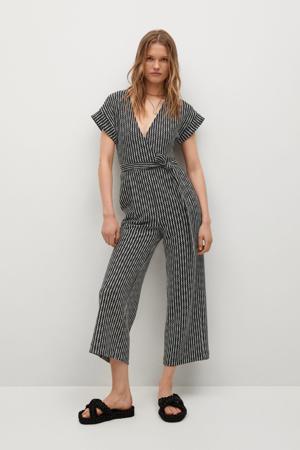 jumpsuit van gerecycled polyester zwart