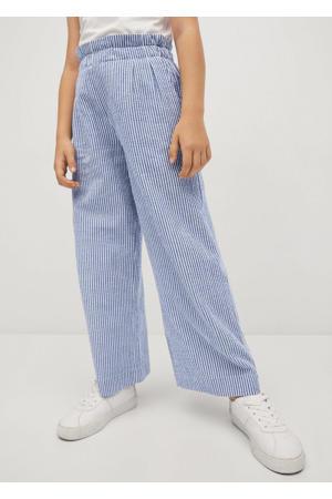 gestreepte broek middenblauw/wit