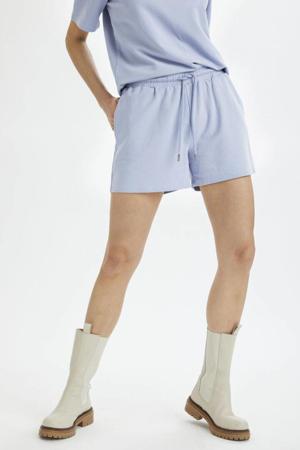 straight fit korte broek Hydda lichtblauw