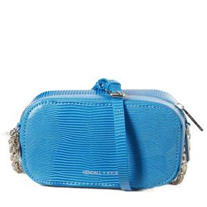 crossbody tas HEATHER met slangenprint blauw