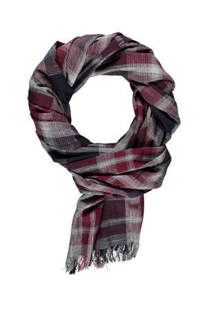 geruite sjaal donkerrood