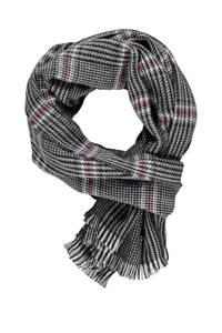 LERROS geruite sjaal grijs, Grijs