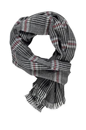 geruite sjaal grijs