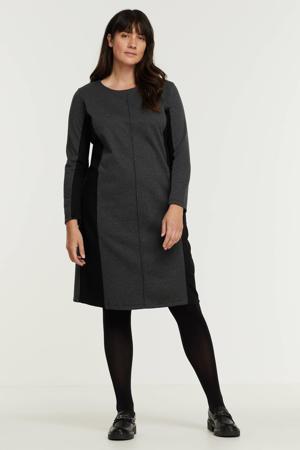 jurk zwart/grijs