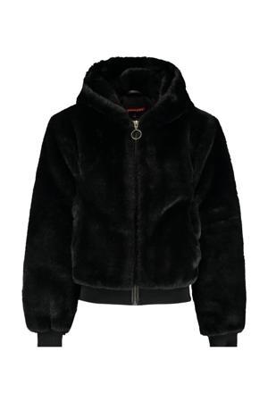 imitatiebont jas Jess zwart