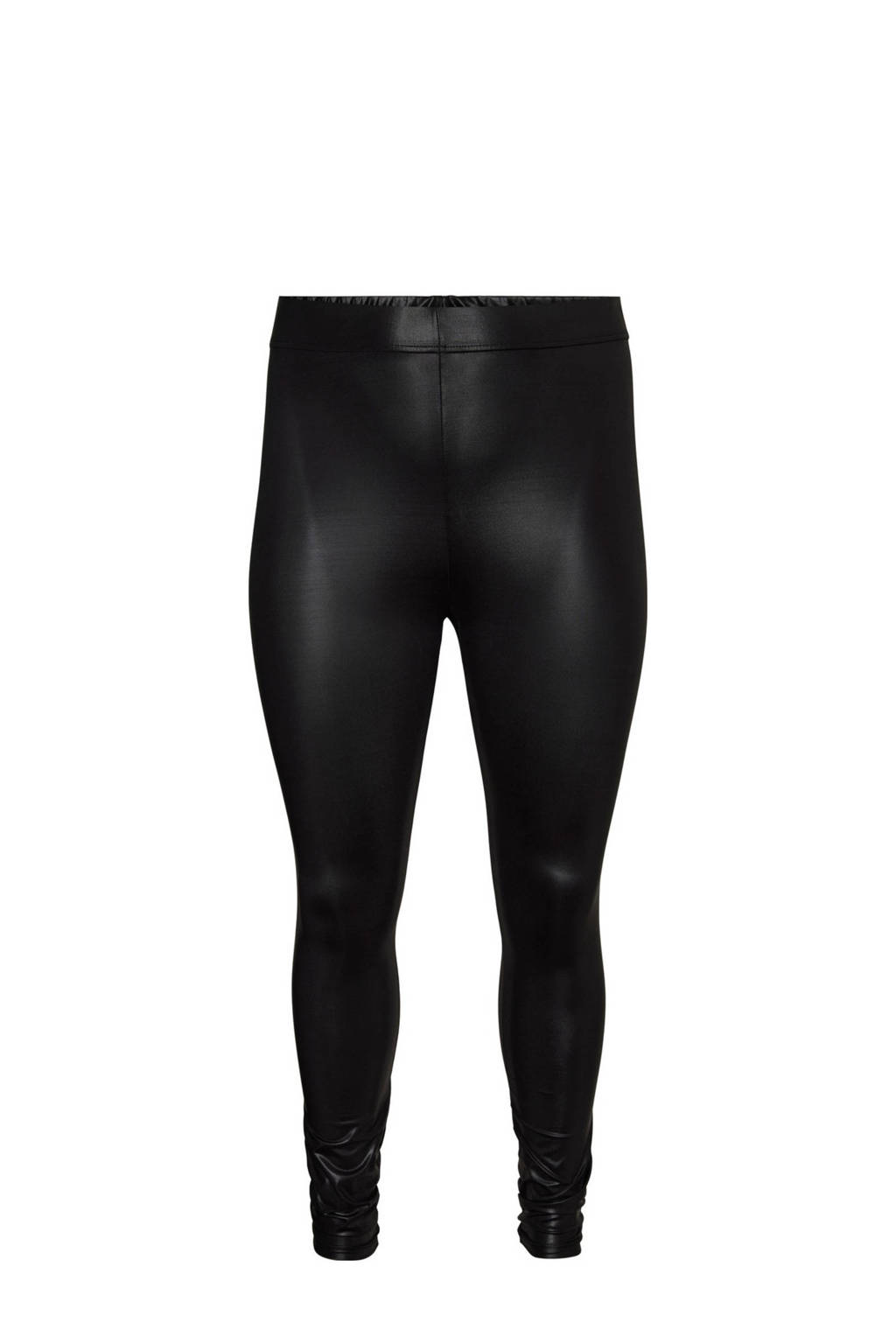 VERO MODA CURVE Plus Size gecoate legging VMSHINY zwart, Zwart