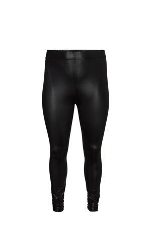 Plus Size gecoate legging VMSHINY zwart