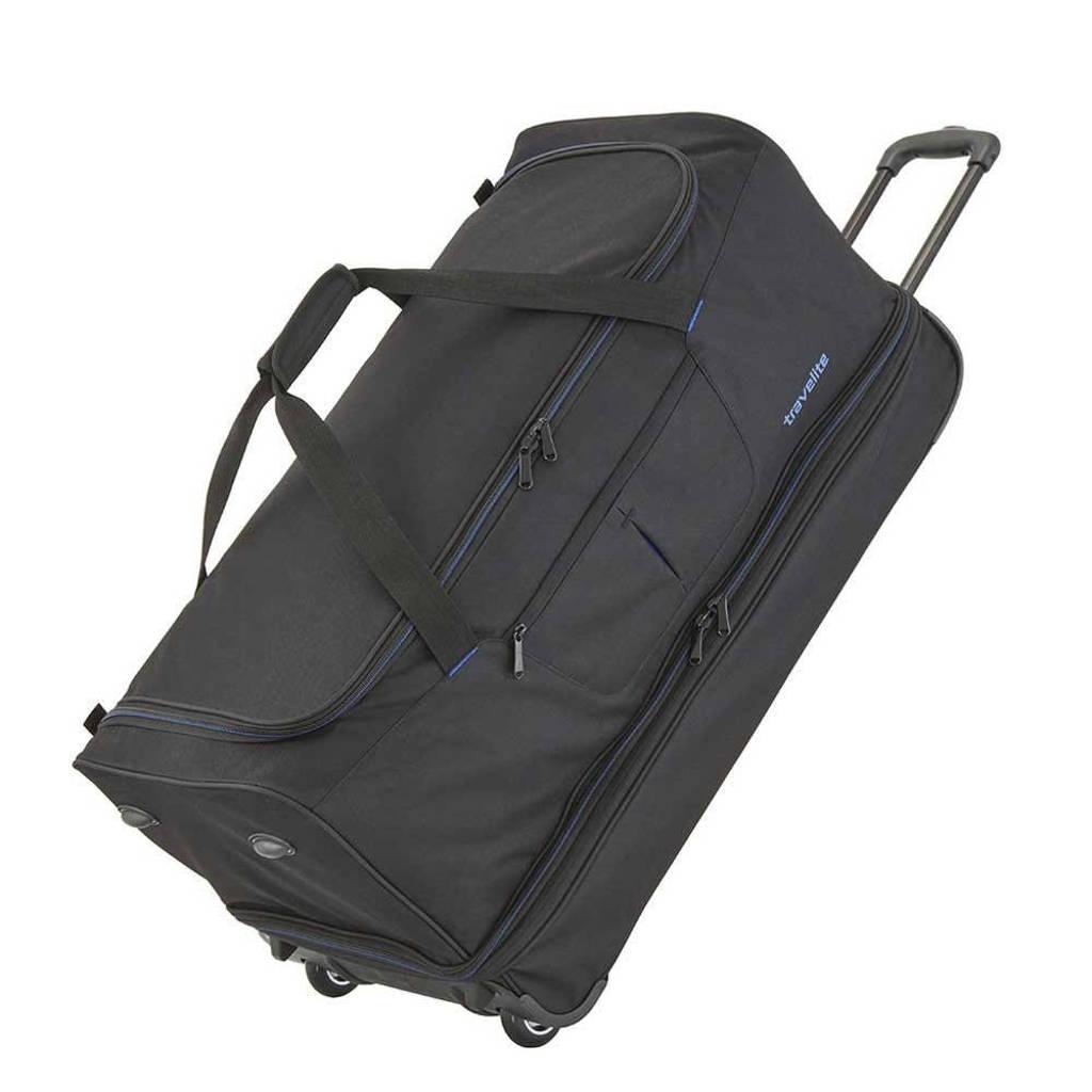 Travelite  reistas Basics Wheeled Duffle 70 cm. zwart/blauw, Zwart/blauw