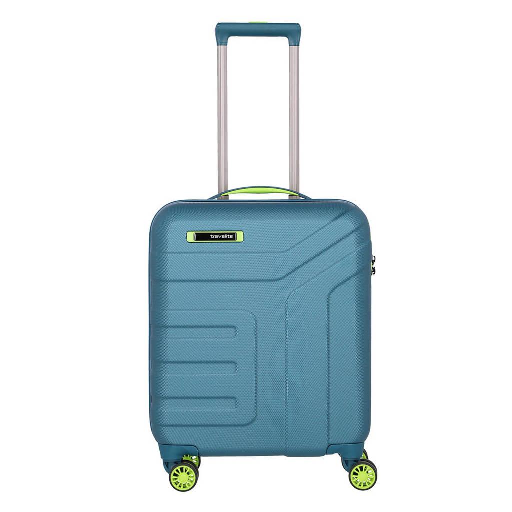 Travelite  trolley Vector S Spinner 55 cm. petrol, Blauw