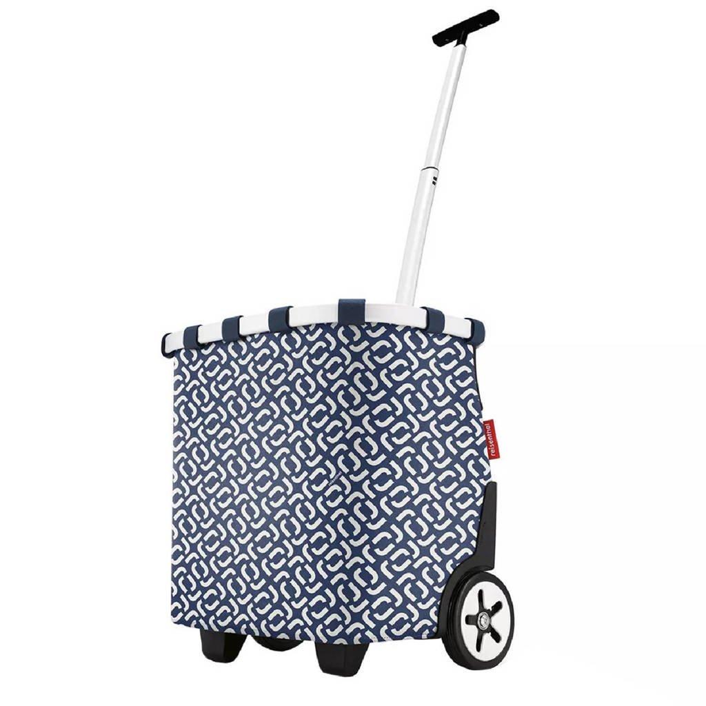 Reisenthel  boodschappentrolley blauw/wit, Blauw/wit
