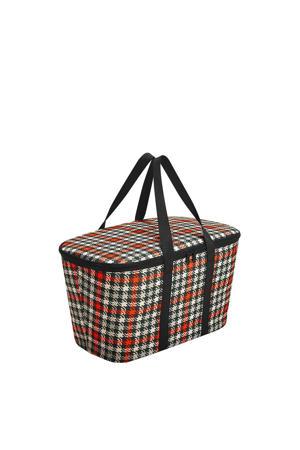boodschappenmand Shopping Coolerbag rood/zwart