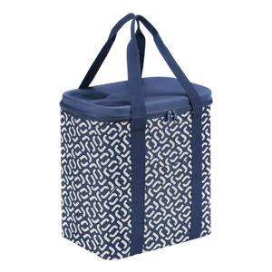 koeltas Shopping Coolerbag XL blauw/wit