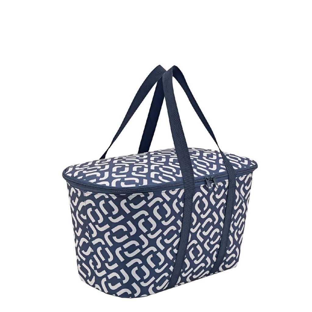 Reisenthel  boodschappenmand Shopping Coolerbag donkerblauw/wit, Donkerblauw/wit
