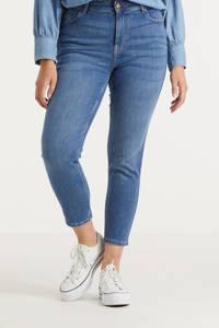 PIECES Curve slim fit jeans PCLILI middenblauw