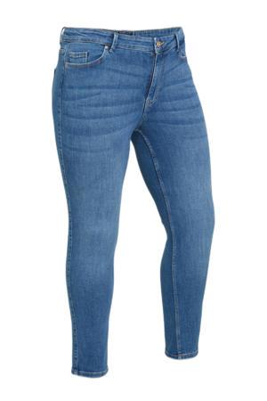 slim fit jeans PCLILI SLIM MW CR MB255-VI NOOS QX BC middenblauw