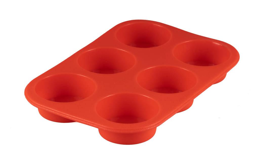 Sareva siliconen muffinvorm, Rood