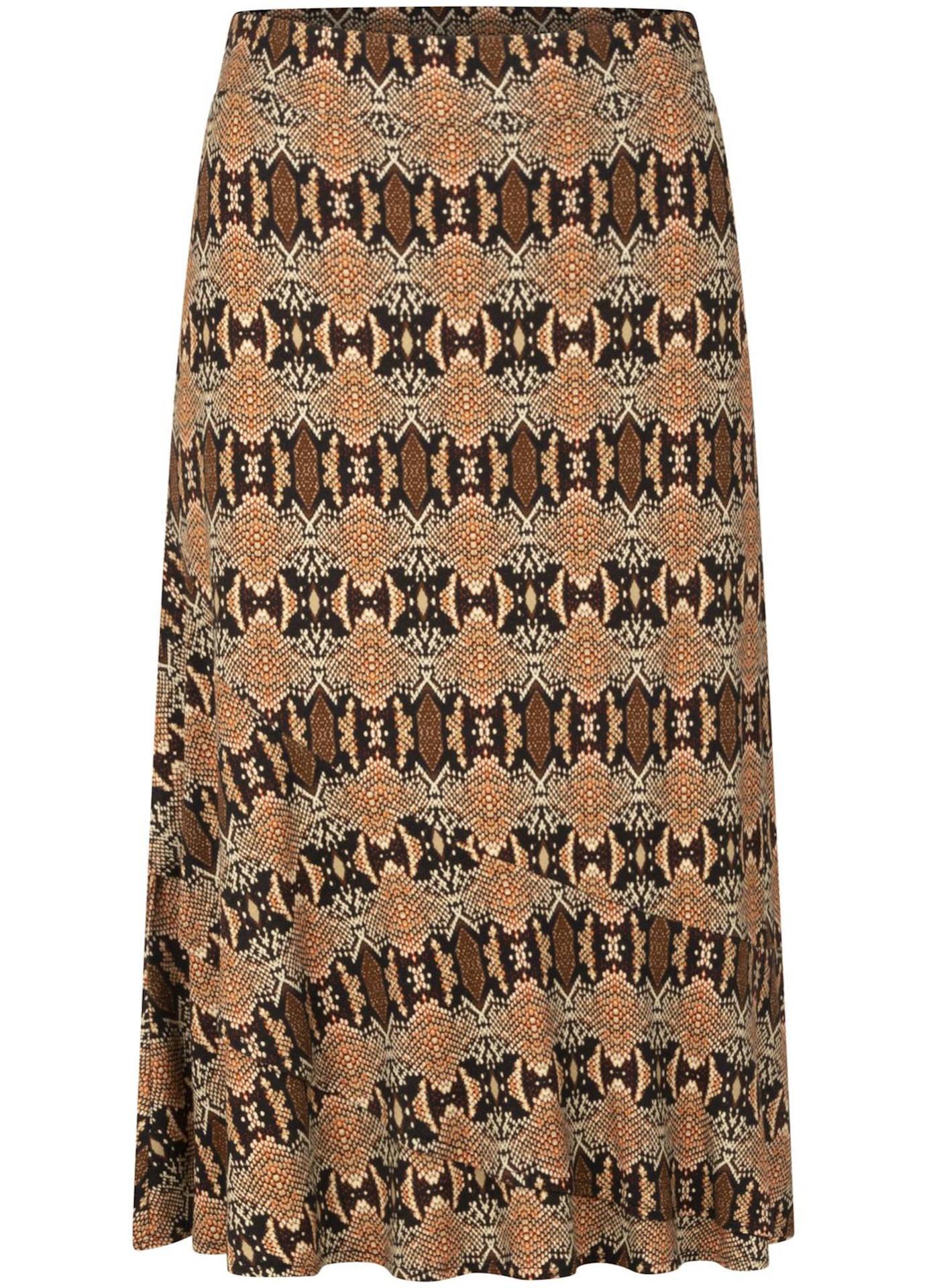 Tramontana midi rok met slangenprint beige/roodbruin online kopen