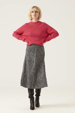 gebreide trui met open detail roze