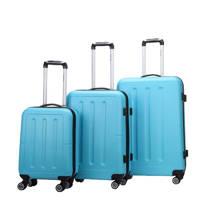 Decent  trolleyset Neon-Fix 3 stuks blauw, Blauw
