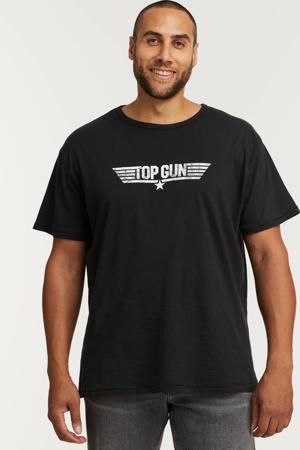 +size regular fit T-shirt met printopdruk 0099/black
