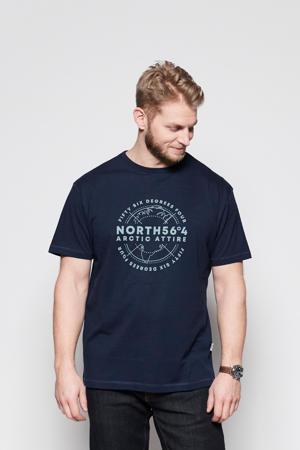 +size T-shirt Plus Size met logo donkerblauw