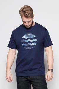 North 56°4 +size T-shirt Plus Size van biologisch katoen donkerblauw, Donkerblauw