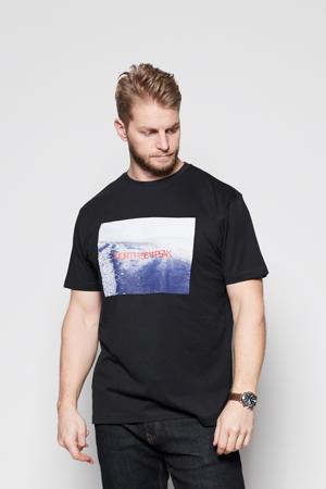 +size T-shirt Plus Size met printopdruk zwart